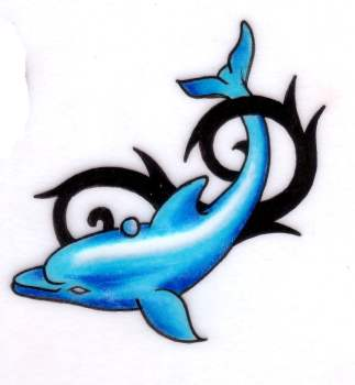 Dolphin tattoo design
