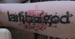 Lamb of God logo tattoo