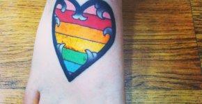 rainbow heart tattoo