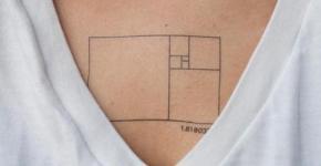 Golden ratio tattoo