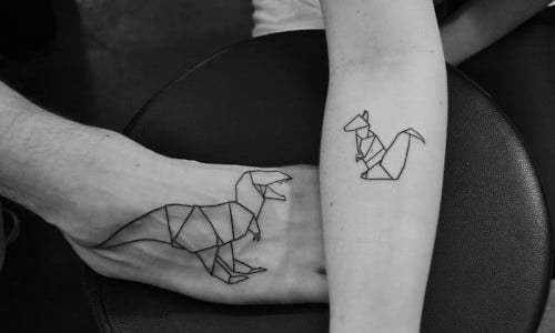 origami style tattoos