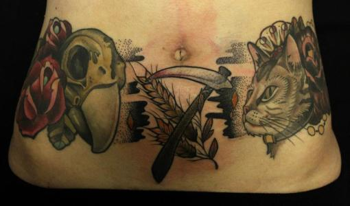 Stomach tattoos for girls