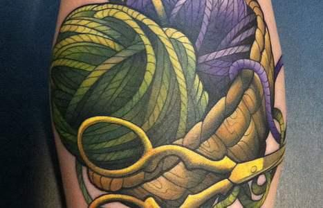 Stem balls tattoo