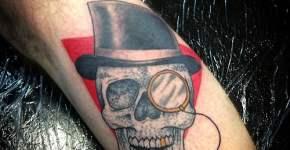 Elegant skeleton tattoo