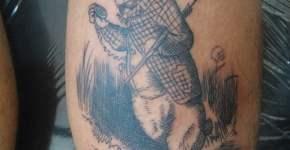 White rabbit Alice in Wonderland tattoo
