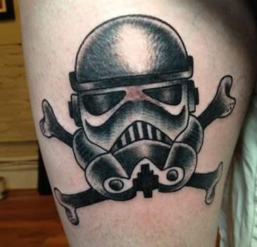 Tatuaje StormTrooper y Calavera