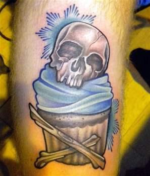 Calavera muffin tatuaje