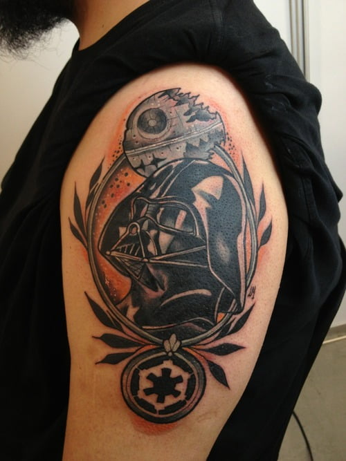 Tatuaje De Star Wars En El Hombro Tatuajesxd