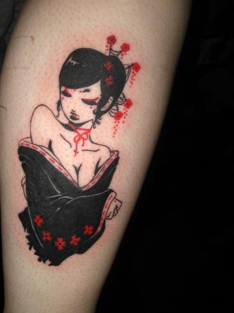 Tatuaje De Geisha En Brazo Tatuajesxd