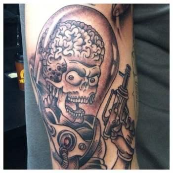 Mars Attack Tattoo