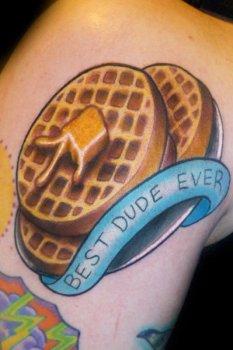 Waffle tattoo
