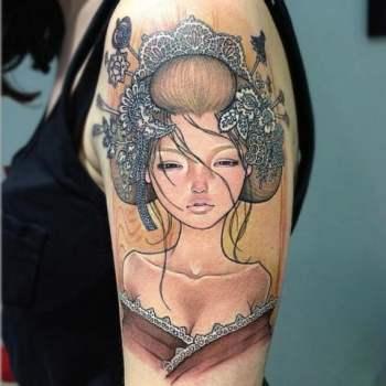 Audrey Kawasaki tattoo inspired