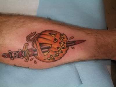 Tatuaje  jack-o'-lantern