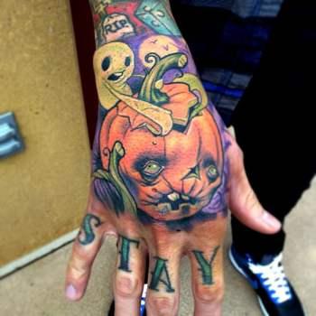 Tatuaje calabaza putrefacta