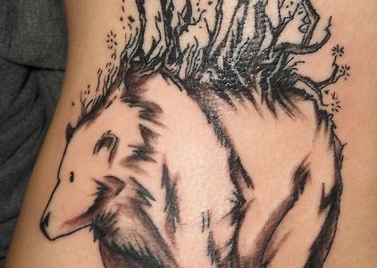 Oso y naturaleza (Tatuajes sorprendentes)
