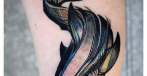 David Hale, tatuaje de un tiburón