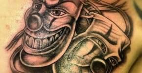 Tatuajes de máscaras de payasos