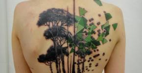 Tatuaje de árboles