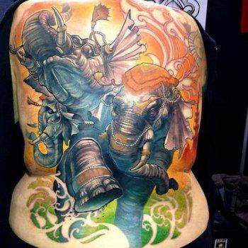 Tatuaje de elefantes indios