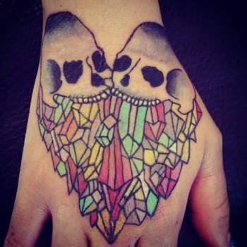 Tatuaje De Calaveras En El Dorso De La Mano Tatuajesxd