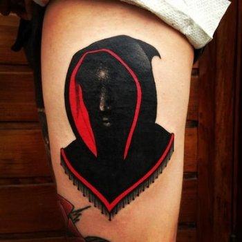 Tatuaje monje negro