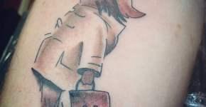 Tatuaje oso viajero