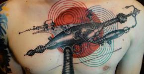 Tatuaje arma espacial