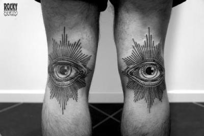 Tatuaje De Ojos En Las Piernas Tatuajesxd