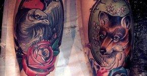 Tatuajes retratos animales
