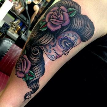 Tatuaje De Catrina En El Brazo Tatuajesxd