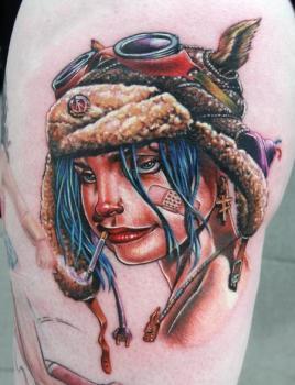 Tatuaje Tank Girl