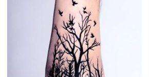 Tatuaje bosque tenebroso.