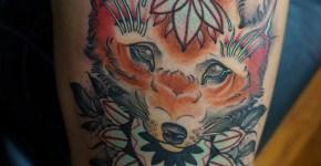 Tatuaje cabeza zorro