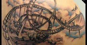 Tatuaje montaña rusa