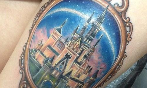 Tatuaje castillo disney