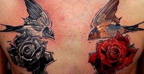 Tatuaje golondrinas
