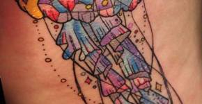 Tatuaje medusa de cristal