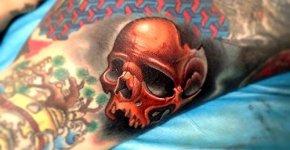 Tatuaje calavera rota