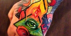 Tatuaje triángulos
