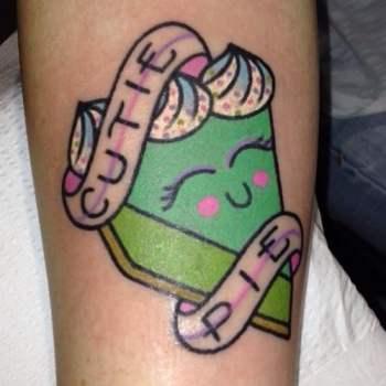 Tatuaje trozo tarta