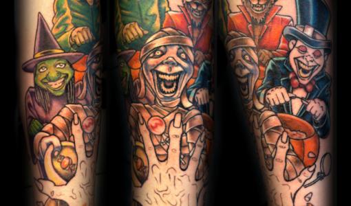 Tatuaje monstruos de terror