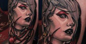 Tatuaje mujer araña