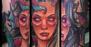 Tatuaje ninfa marina