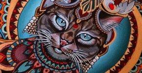 Tatuaje gato indio