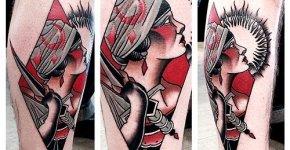 Tatuaje mujer con daga