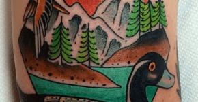Tatuaje patos
