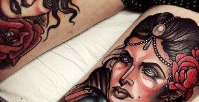 Tatuajes adivinas piernas