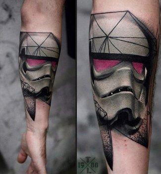 Tatuaje Stormtrooper geométrico
