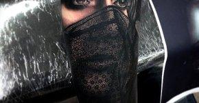 Tatuaje mujer con velo
