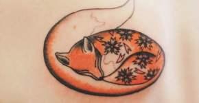 Tatuaje zorro durmiendo